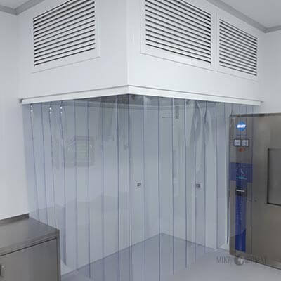 Laminar systems for industrial premises